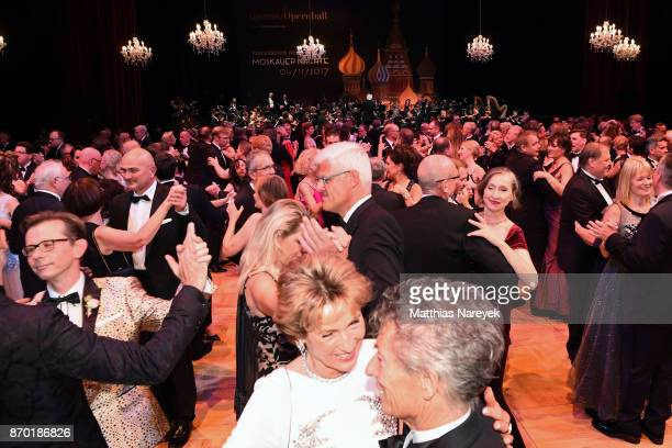A general view of people dancing during the Leipzig Opera Ball on November 4 2017 in Leipzig Germany