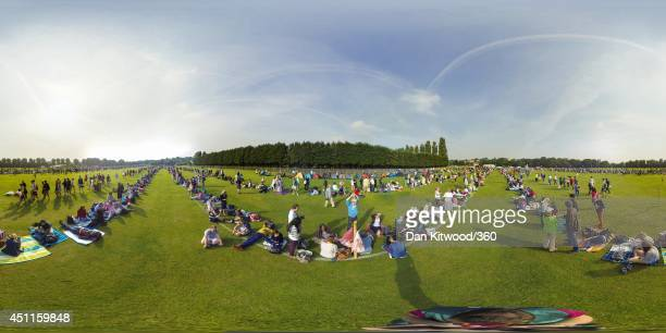 A general view of people queuing on day 2 of the Championships Wimbledon 2014 on June 24 2014 in London England