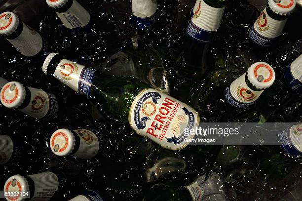 A general view of Peroni beer at the Spring 2009 MercedesBenz Fashion Week held at Smashbox Studios on October 14 2008 in Culver City California