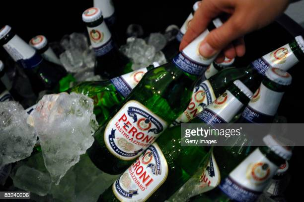 A general view of Peroni beer during the Spring 2009 MercedesBenz Fashion Week held at Smashbox Studios on October 12 2008 in Culver City California