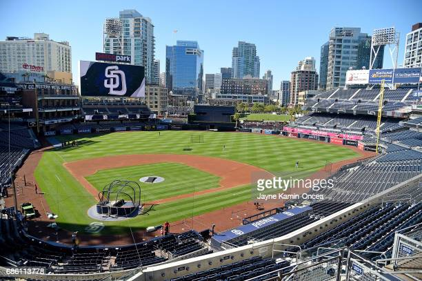General view of Petco Park before the game between the San Diego Padres and the Arizona Diamondbacks on May 20, 2017 in San Diego, California.