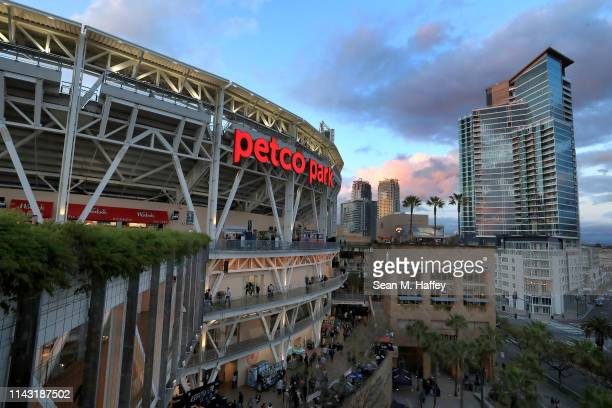 General view of PETCO Park during a game between the San Diego Padres and the Colorado Rockies on April 16, 2019 in San Diego, California.