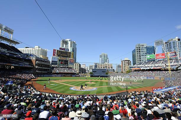 General view of Petco Park during the game between Cuba and Japan during the Pool 1 Game 1, of the second round of the 2009 World Baseball Classic at...