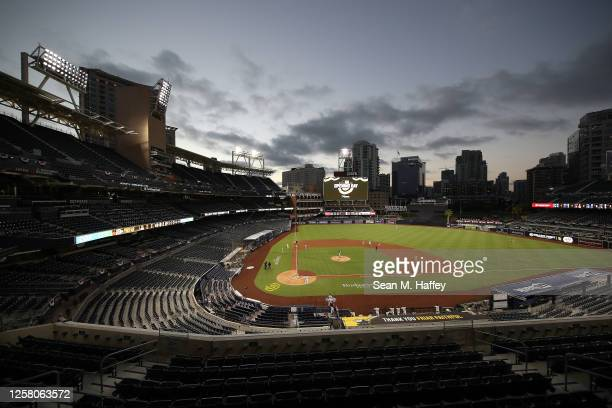 General view of PETCO Park during the sixth inning of the Opening Day game between the San Diego Padres and the Arizona Diamondbacks on July 24, 2020...
