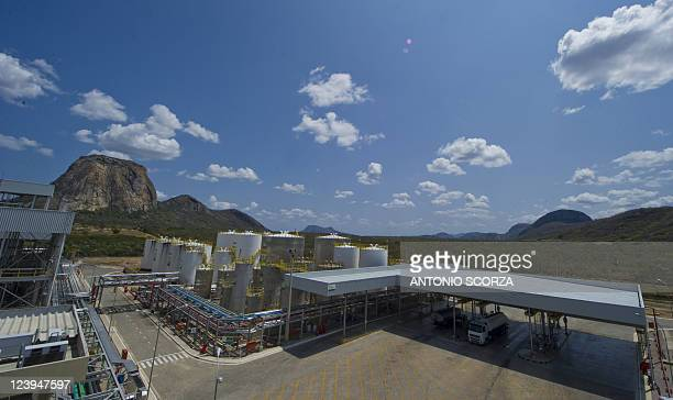 General view of Petrobras' Quixada biodiesel plant in the state of Ceara northeastern Brazil on September 1st 2011 The refinery obtains raw material...