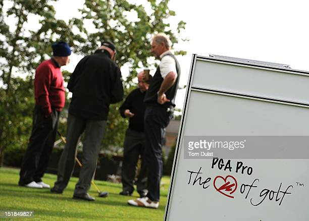 General view of PGA branding during the PGA Super 60's Tournament at the De Vere Belton Woods Golf Club on September 12 2012 in Grantham England
