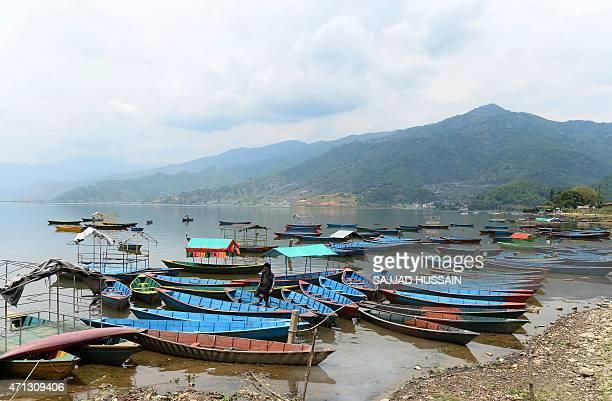 A general view of Phewa Lake in Pokhara on April 27 2014 AFP PHOTO/SAJJAD HUSSAIN