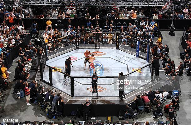 A general view of Philips Arena during a fight between Michael Platt andTim Boetsch at UFC 88 on September 6 2008 in Atlanta Georgia