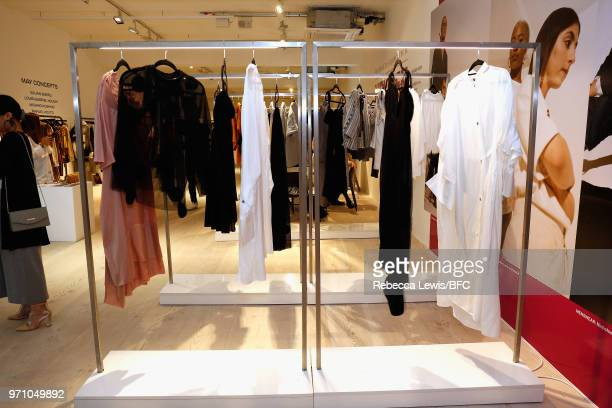 A general view of Phoebe English at the NEWGEN PopUp Showroom during London Fashion Week Men's June 2018 at the BFC Designer Showrooms on June 10...