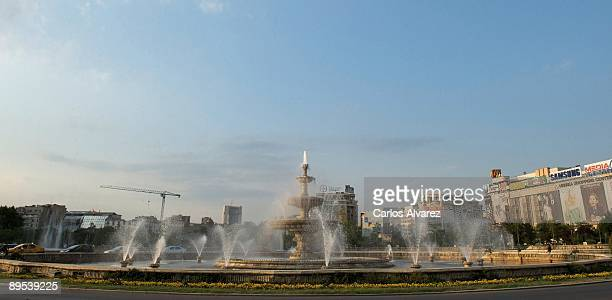 General view of Piata Unirii square on July 29 2009 in Bucharest Romania