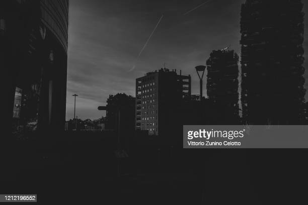 A general view of Piazza Gae Aulenti on March 10 2020 in Milan Italy The Italian Government has strengthened up its quarantine rules shutting all...