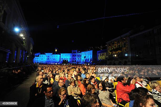 General view of Piazza Grande during the 67th Locarno Film Festival on August 15 2014 in Locarno Switzerland