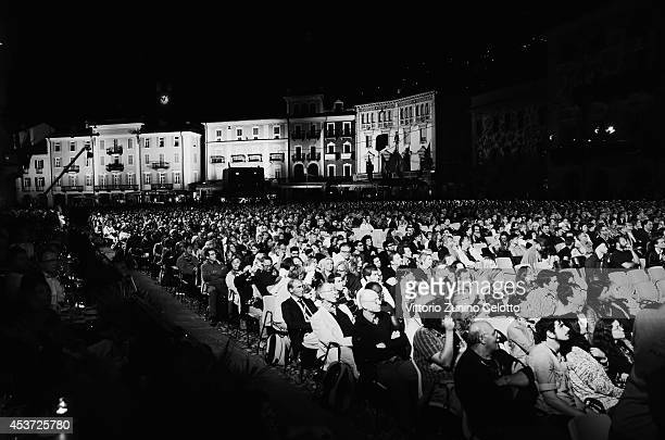 A general view of Piazza Grande during the 67th Locarno Film Festival on August 16 2014 in Locarno Switzerland