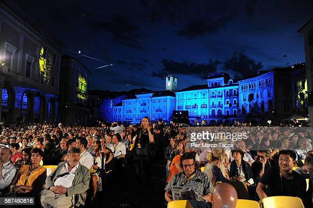 A general view of Piazza Grande during the 69th Locarno Film Festival on August 8 2016 in Locarno Switzerland