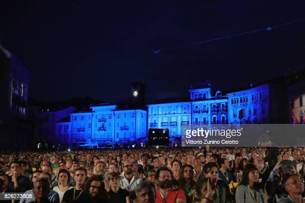 A general view of Piazza Grande during the 70th Locarno Film Festival on August 3 2017 in Locarno Switzerland