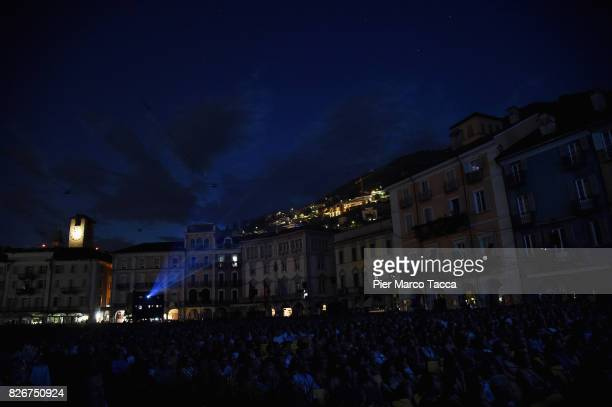 A general view of Piazza Grande during the 70th Locarno Film Festival on August 5 2017 in Locarno Switzerland