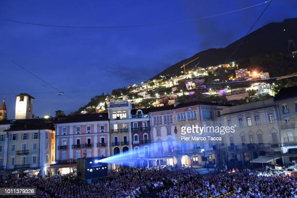 General view of Piazza Grande during the 71st Locarno Film Festival on August 4 2018 in Locarno Switzerland