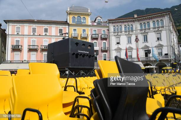 General view of Piazza Grande during the 71st Locarno Film Festival on August 7 2018 in Locarno Switzerland