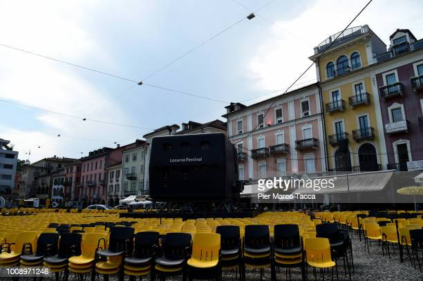 General view of Piazza Grande in afternoon during the 71st Locarno Film Festival on August 1 2018 in Locarno Switzerland