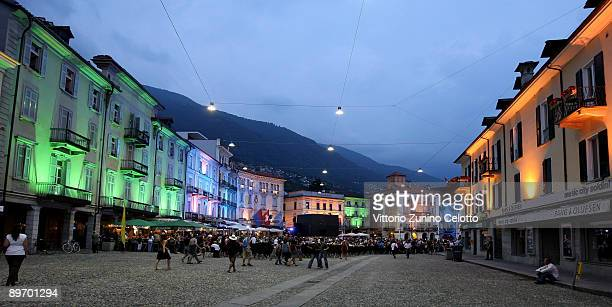 A general view of Piazza Grande on August 7 2009 in Locarno Switzerland