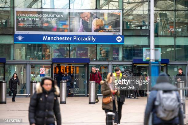 General view of Piccadilly train station in Manchester city centre on March 19, 2020 in Manchester, England.