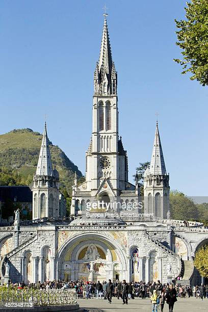 General view of Pilgrims on October 12 2013 in Lourdes France