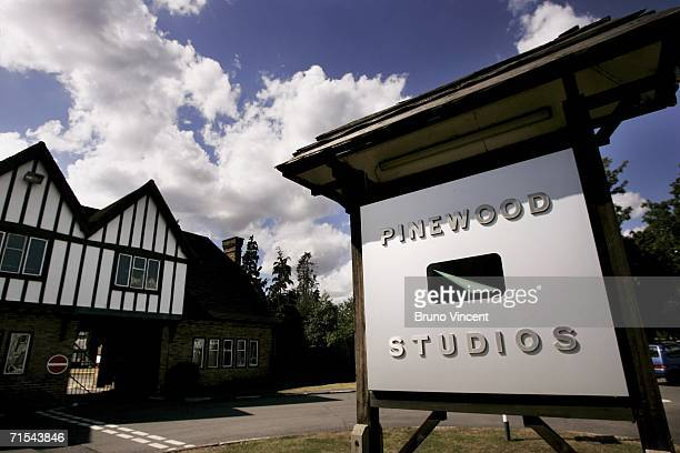 A general view of Pinewood studios on July 30 2006 in Bukinghamshire England Eight fire engines tackled a blaze at the renowned film studios at the...
