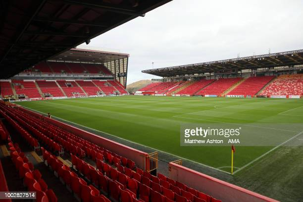 A general view of Pittodrie Stadium the home of Aberdeen prior to the PreSeason Friendly between Aberdeen and West Bromwich Albion at Pittodrie...