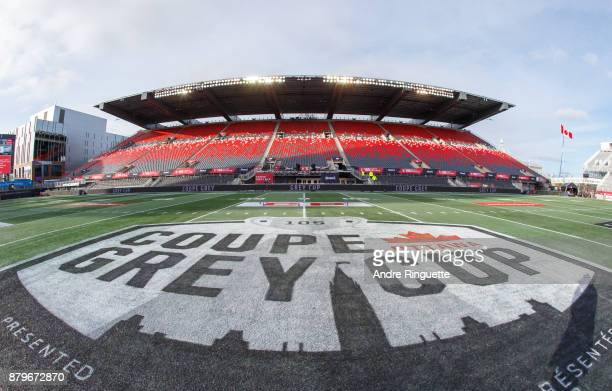 A general view of TD Place Stadium prior to the 105th Grey Cup Championship Game between the Calgary Stampeders and the Toronto Argonauts on November...
