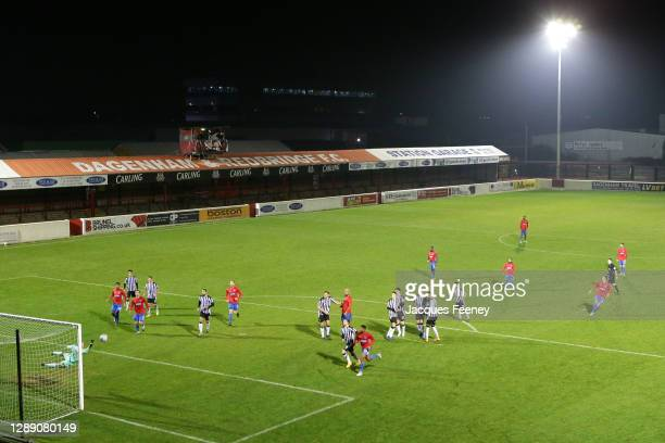 General view of play as a free kick is taken during the Vanarama National League match between Dagenham and Redbridge and Notts County at Chigwell...