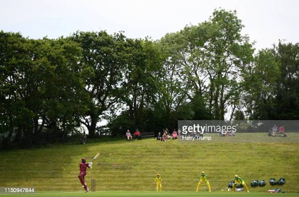 General view of play as Carlos Brathwaite of West Indies bats during the One Day International match between Australia and West Indies at the Ageas...