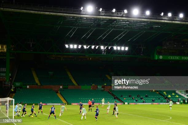 General view of play as David Turnbull of Celtic scores their sides first goal during the Ladbrokes Scottish Premiership match between Celtic and...