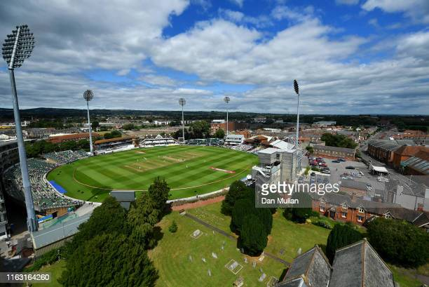 General view of play as England bat during day three of the Kia Women's Test Match between England Women and Australia Women at The Cooper Associates...