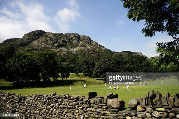 A general view of play at Keswick Cricket Club on July 26 2008 in Keswick England