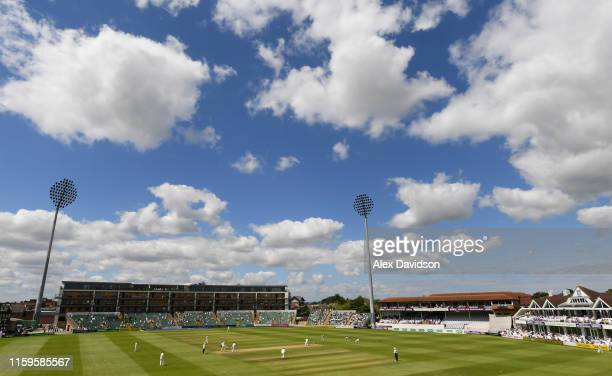 General view of play at the CACG during Day Three of the Specsavers County Championship Division One match between Somerset and Hampshire at The...