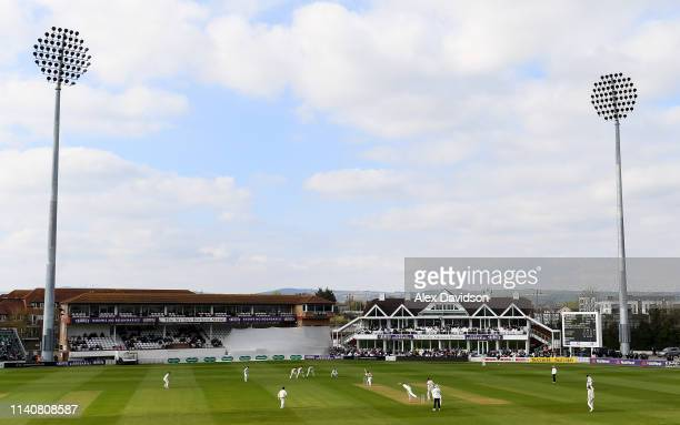General view of play at the Cooper Associates County Ground during Day 2 of the Specsavers County Championship match between Somerset and Kent at The...