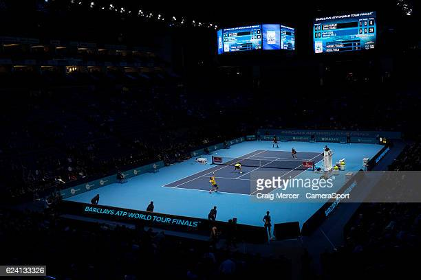 A general view of play at the O2 Arena during day five of the ATP World Tour Finals at O2 Arena on November 17 2016 in London England