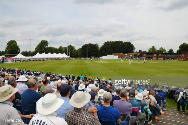 A general view of play at York Cricket Club during the Specsavers County Championship Division one match between Yorkshire and Warwickshire at on...
