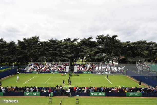 General view of play between Daniel Evans of Great Britain and Dominik Koepfer of Germany during day six of the Nature Valley Open at Nottingham...