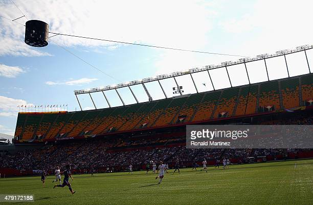 A general view of play between Japan and England during the FIFA Women's World Cup Canada 2015 Semi Final match at Commonwealth Stadium on July 1...
