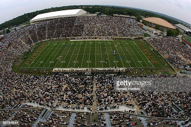 A general view of play between the Central Michigan Chippewas and the Purdue Boilermakers at RossAde Stadium on September 20 2008 in West Lafayette...