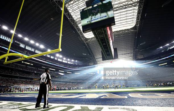 A general view of play between the Green Bay Packers and the Dallas Cowboys at ATT Stadium on October 8 2017 in Arlington Texas