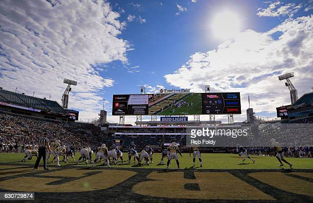 A general view of play between the Kentucky Wildcats and the Georgia Tech Yellow Jackets during the second half of the game at EverBank Field on...