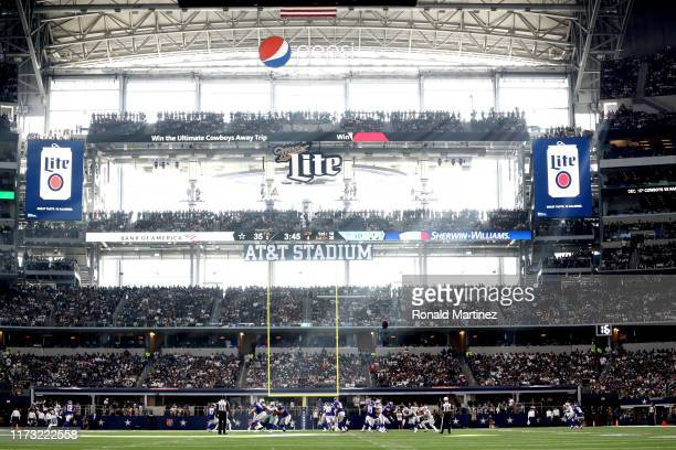 A general view of play between the New York Giants and the Dallas Cowboys at ATT Stadium on September 08 2019 in Arlington Texas