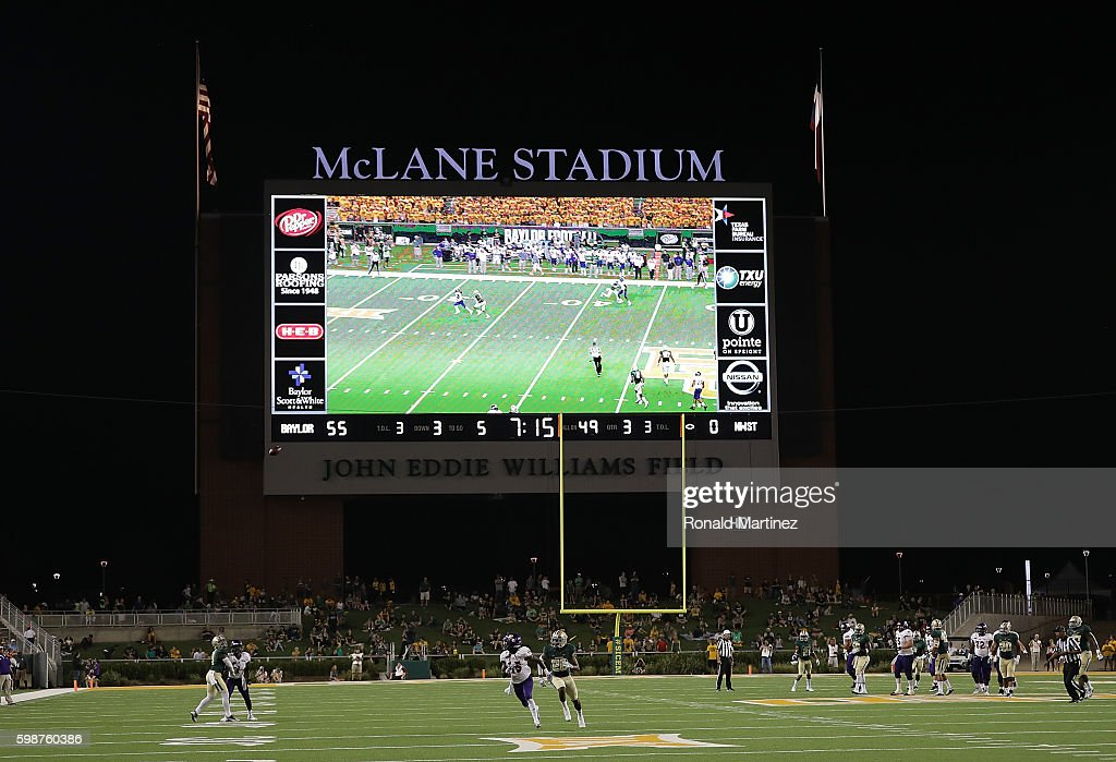A general view of play between the Northwestern State Demons and the Baylor Bears at McLane Stadium on September 2, 2016 in Waco, Texas.