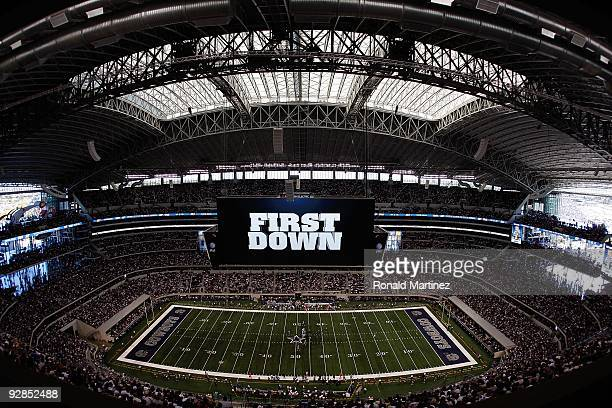A general view of play between the Seattle Seahawks and the Dallas Cowboys at Cowboys Stadium on November 1 2009 in Arlington Texas