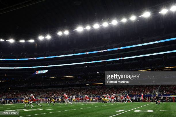 A general view of play between the USC Trojans and the Ohio State Buckeyes during the Goodyear Cotton Bowl at ATT Stadium on December 29 2017 in...