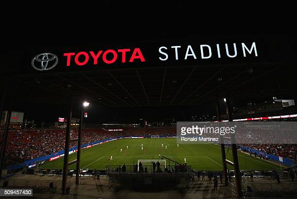 A general view of play between United States and Costa Rica during the 2016 CONCACAF Women's Olympic Qualifying at Toyota Stadium on February 10 2016...