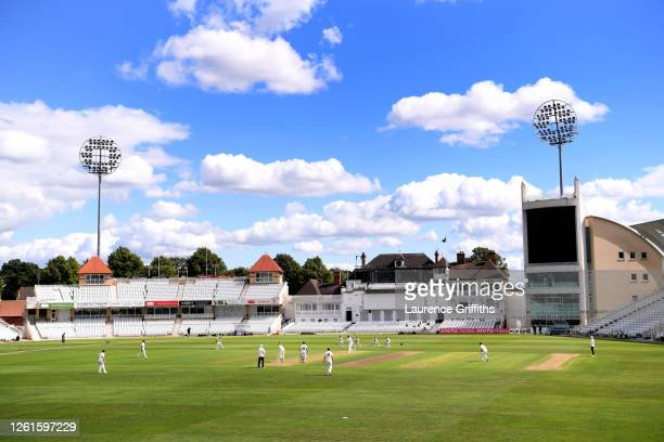 A general view of play during a Friendly Match between Nottinghamshire and Leicestershire at Trent Bridge on July 28 2020 in Nottingham England...
