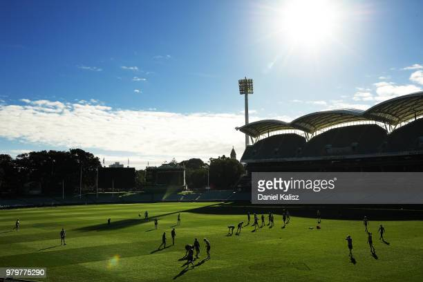Ollie Wines of the Power poses for a portrait during a Port Power AFL training session at the Adelaide Oval on June 21 2018 in Adelaide Australia